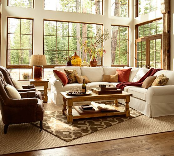 Pottery Barn Living Room Ideas Comfort Slipcovered 3 Piece L